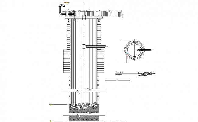 Detail of drain plan and elevation dwg file