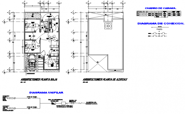 Detail of electrical home plan detail