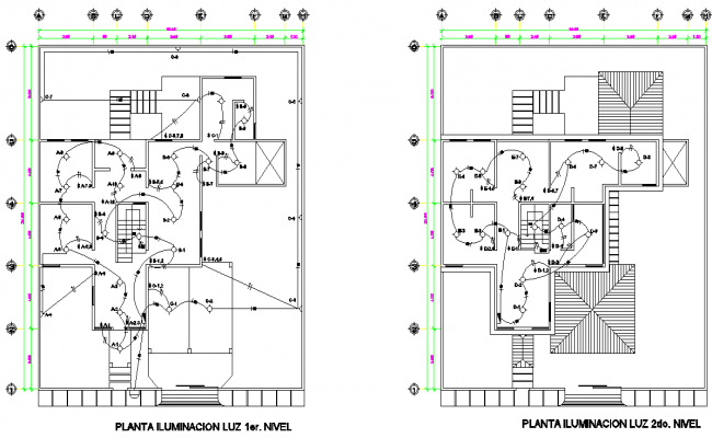 Detail of electrical house plan autocad file