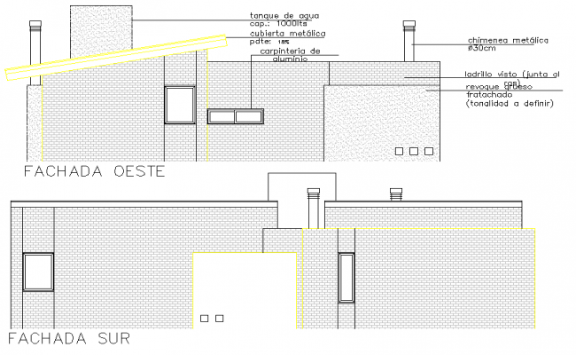 Detail of elevation house plan detail