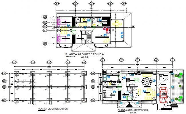 Detail of foundation plan to architect design plan detail dwg file