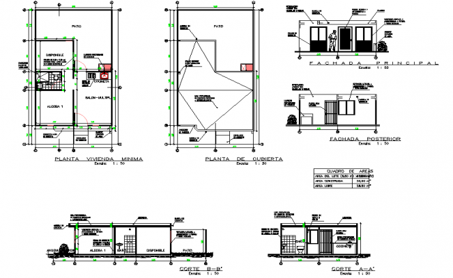 Detail of house planning detail dwg file