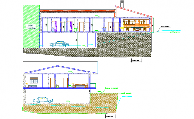 Detail of house section dwg file
