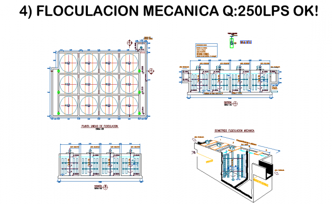 Detail of mechanical flocculation autocad file