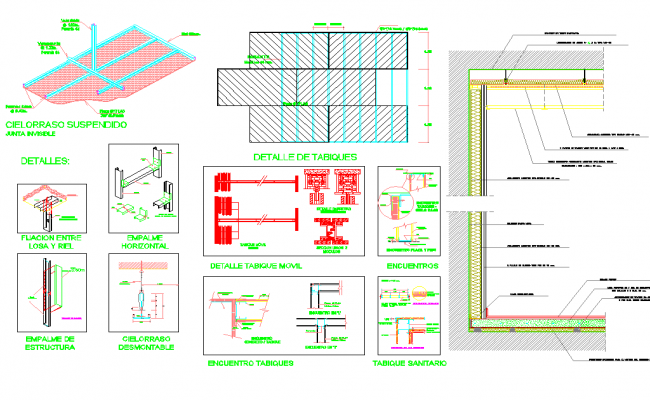 Detail of partitions dwg file
