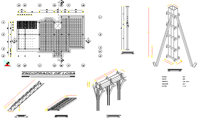 Detail of roof plan and section autocad file