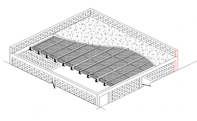 Detail of roof plan dwg file
