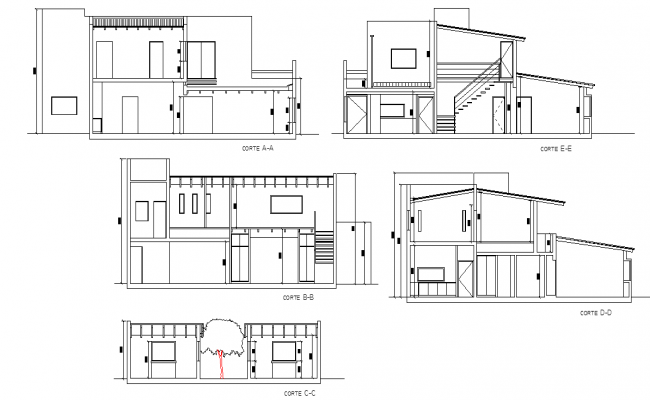 Detail of section 2 floor house plan layout file