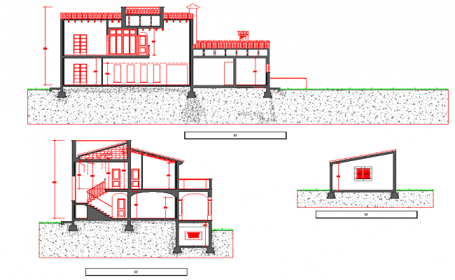 Detail of section home detail dwg file
