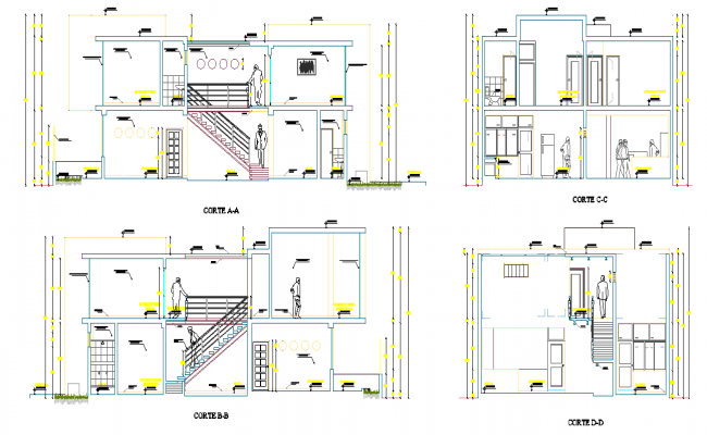 Detail of section home plan detail dwg file