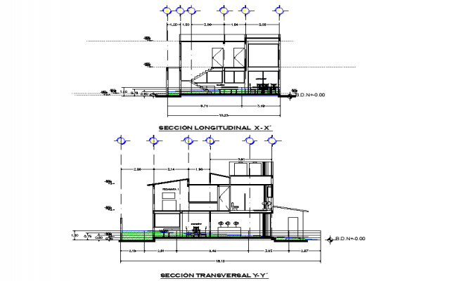 Detail of section house plan layout file