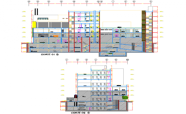 Detail of section office plan detail