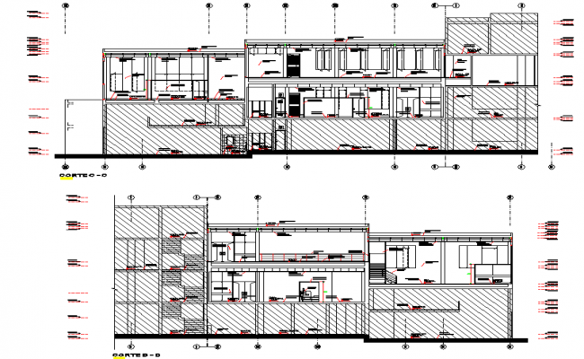 Detail of section plan dwg file