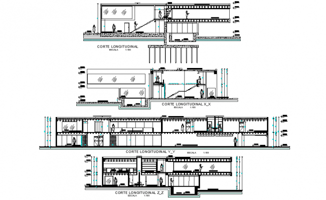 Detail of section viilla or retirement home plan autocad file