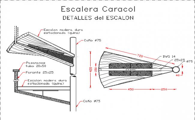 Detail of spiral stairway