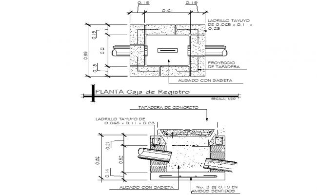 Detail of tank dwg file