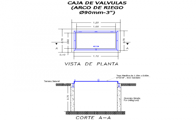 Detail of valve plan and section layout file