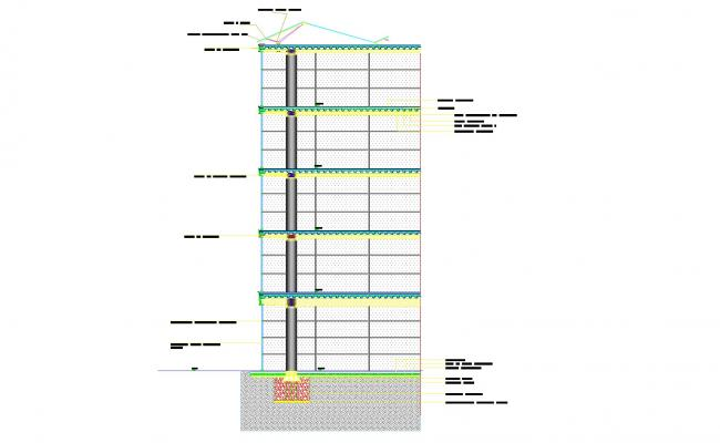Detail of wall section autocad file