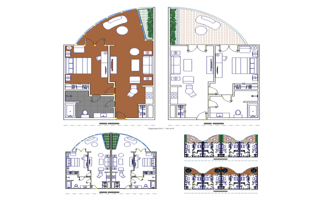 Detail residential housing building plan 2d view layout dwg file
