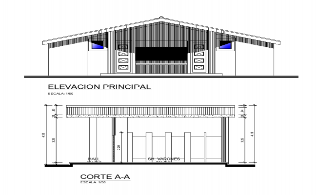 Detail sanitary toilet elevation and section 2d view layout file