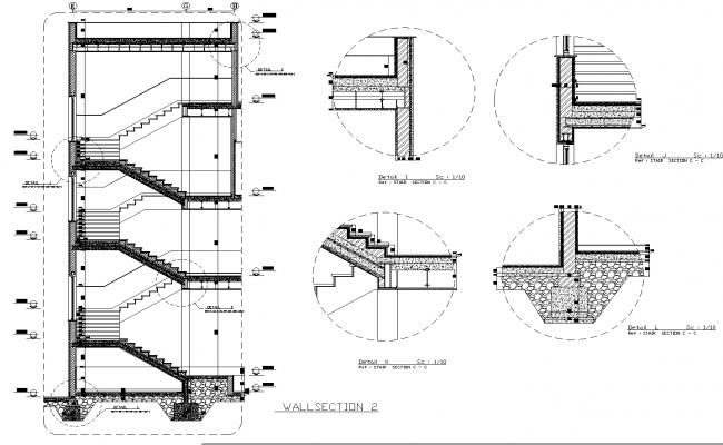 Detail stair plan dwg detail.,