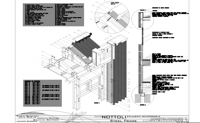 Detail steel framing detail plan dwg.