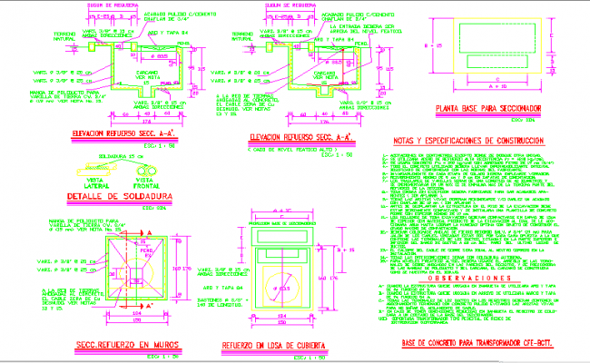 Detail switch and transformer switchgear