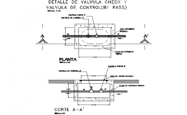 Detail valve check dwg file