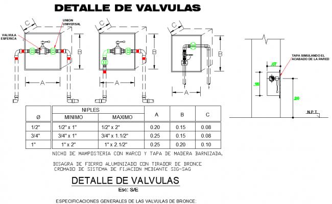 Detail valve dwg file