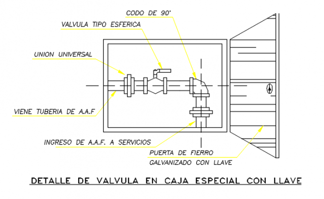 Detail valve plan view dwg file
