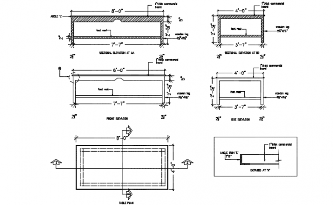 Detailing furniture dwg file