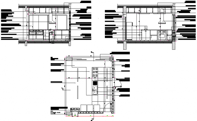 Detailing of kitchen dwg file