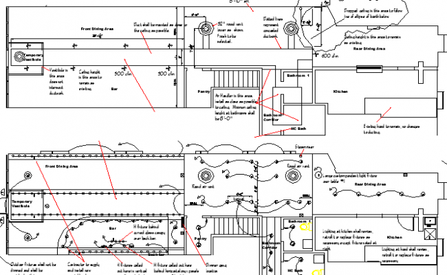 Detailing structural layout of coffee processing industrial plant dwg file