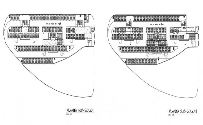 Details 2d CAD drawings of parking space area plan dwg file
