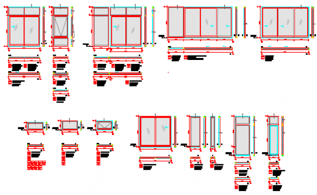 Details Drawing Of Pvc Window Thermal Panels Design Drawing