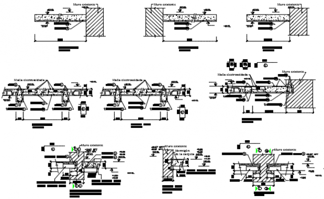 Details joint section dwg file
