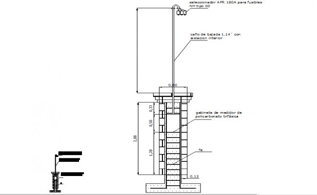 Details meter pillar dwg file