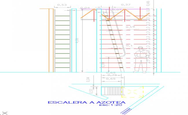Details of a Metallic Stairway