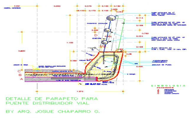 Details of a Railing of distributor bridge