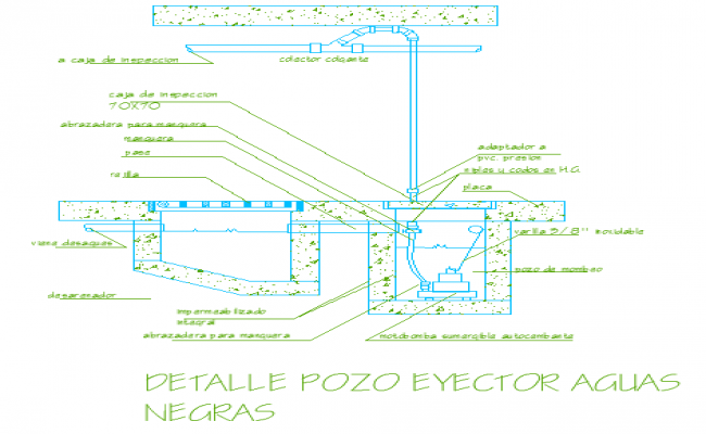 Details of a sewage with ejector