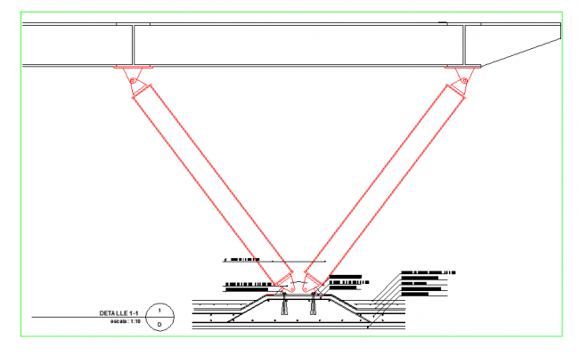 Details of a shade over flat roof