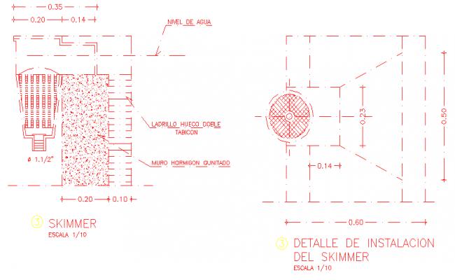 Details of a skimmer