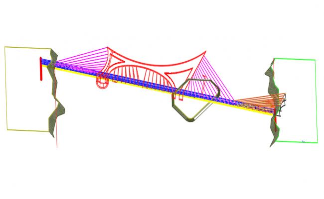 Details of a suspension bridge