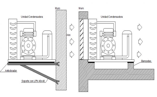 Details of engine mount refrigerators dwg file
