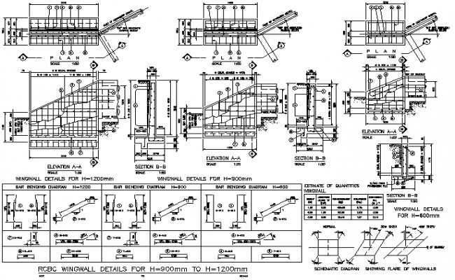 Details of wing wall dwg file ccuart Choice Image