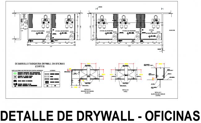 Development Dray wall office plan detail