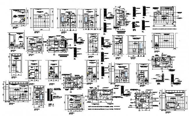 Development bathrooms dwg file