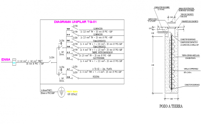 Diagram circuit detail dwg file