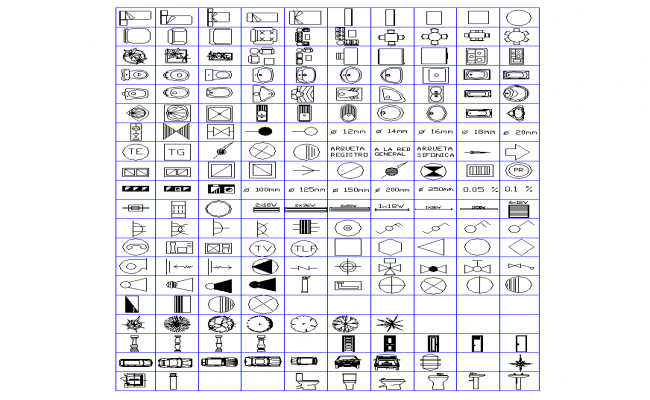 Different CAD symbol and logo detail autocad layout file