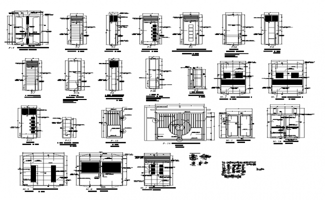 Different Construction structure detail elevation 2d view layout file